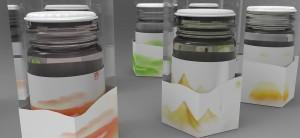 Verpackungen in verschiedenen Farben
