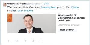 Tweet mit einer Website-Card von Twitter